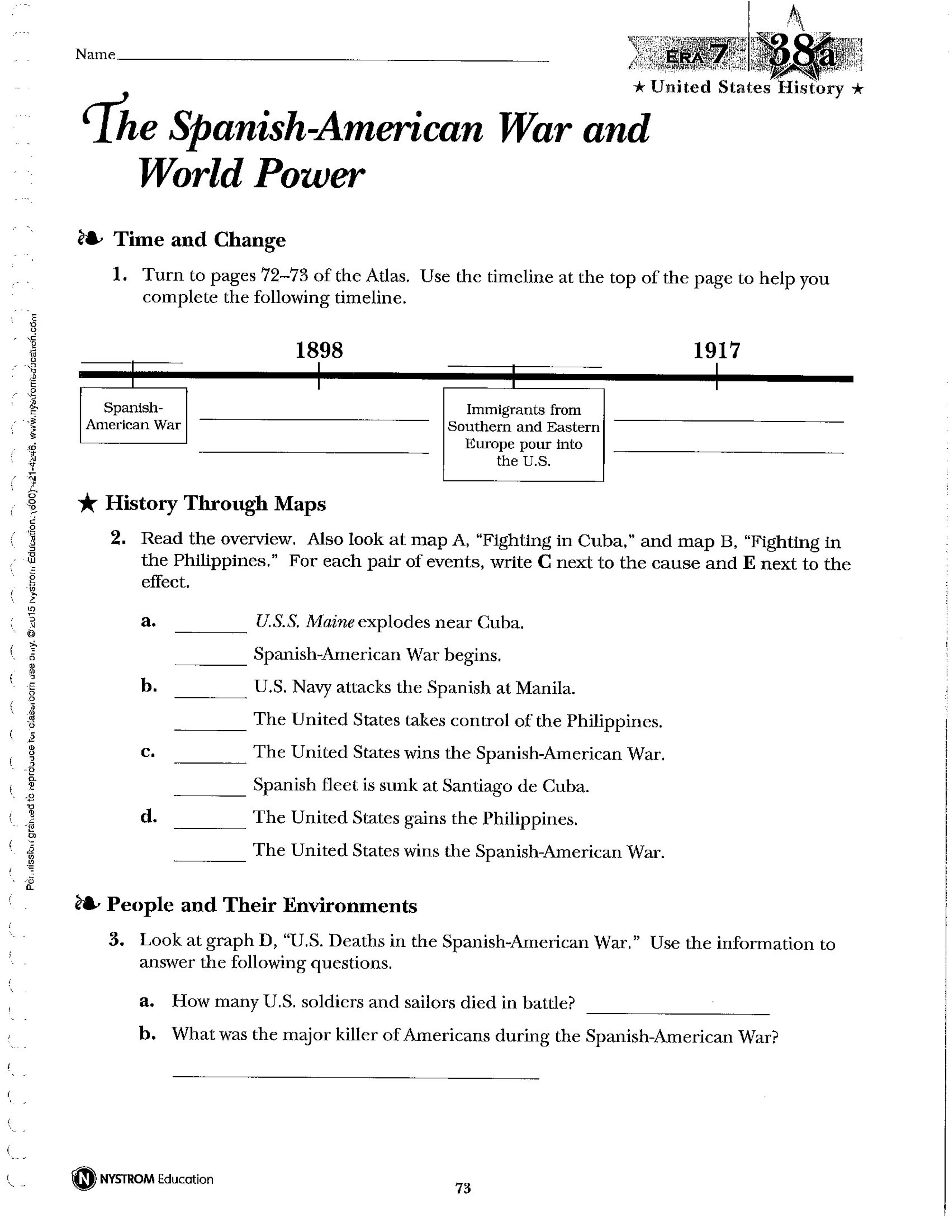 NAUSH 38 The Spanish-American War and World Power - Amy ...