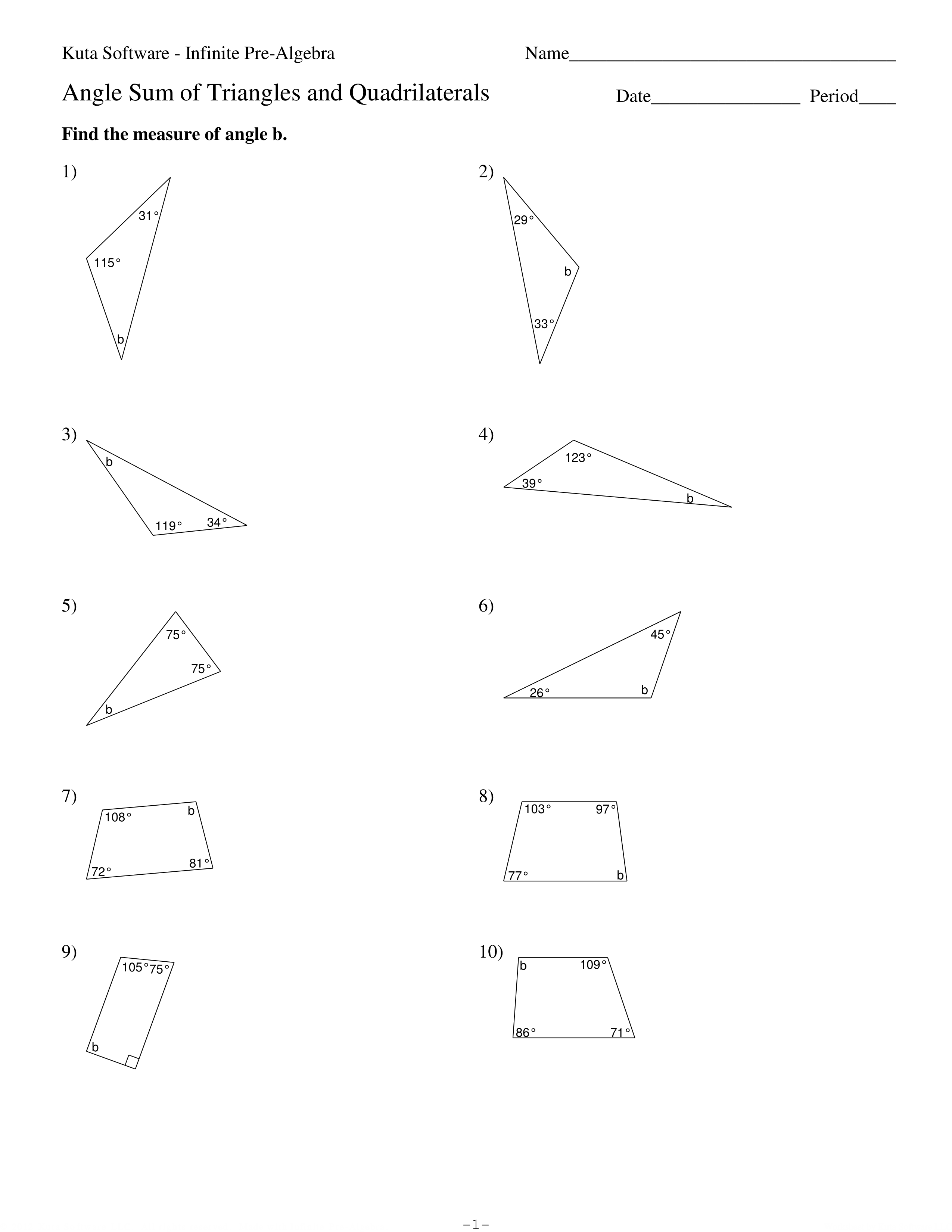 Module 2 Lesson 13 Practice - Angle Relationship, Angle ...